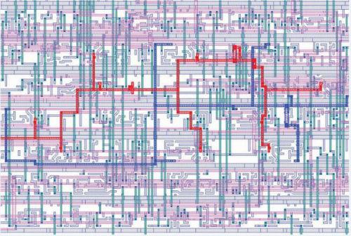 图2 CAD布局用于执行FIB电路编辑