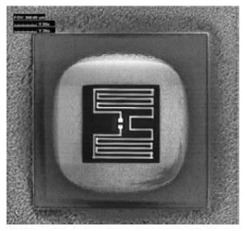 图6背面FIB电路编辑用于在两个节点之间引入电阻。