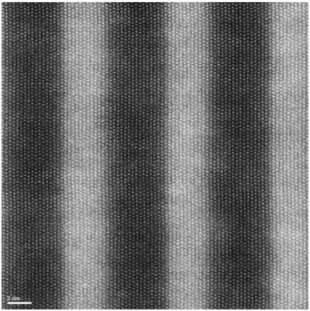 GaN:InGaN多層積層体のAC ‐ STEM Z‐コントラスト像