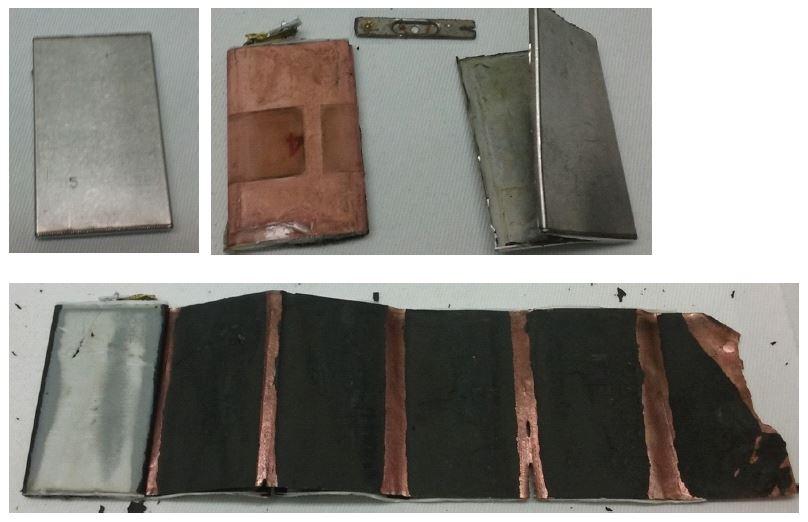 分解されたリチウム電池