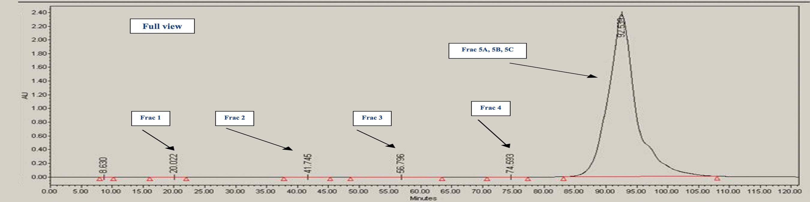 Figure 1. Representative IEX Chromatogram of Sample (Full View)