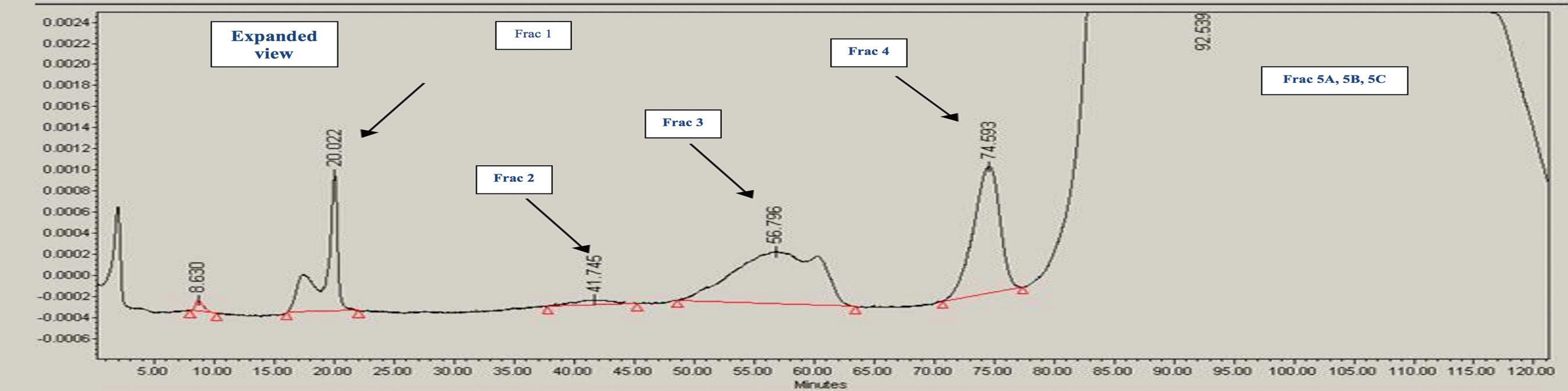 Figure 2. Representative IEX Chromatogram of Sample (Expanded View)