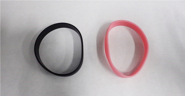 Figure 1: Pink and Black Wristbands