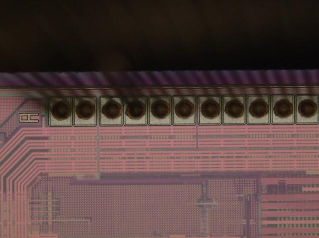 Close up of intact aluminum pads