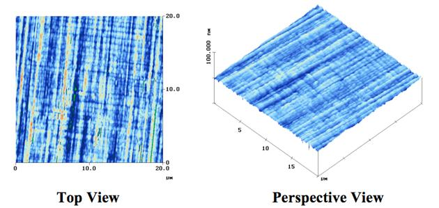 異常成長したGaAs表面の形状観察
